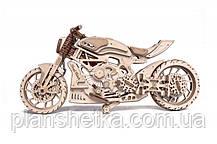 Дерев'яний 3D конструктор Мотоцикл DMS, фото 2