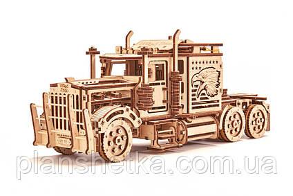 Дерев'яний 3D конструктор Тягач, фото 2