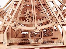 Деревянный 3D конструктор Механическое колесо обозрения, фото 3