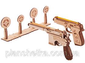 Деревянный 3D конструктор Набор пистолетов с мишенями, фото 2