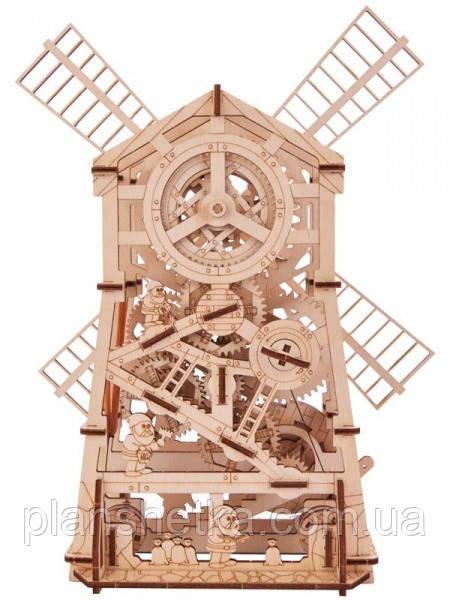 Деревянный 3D конструктор Мельница механическая