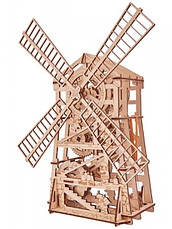 Деревянный 3D конструктор Мельница механическая, фото 3