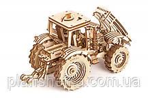 Деревянный 3D конструктор Трактор, фото 2