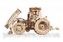 Дерев'яний 3D конструктор Трактор, фото 2