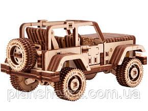 Деревянный 3D конструктор Сафарi джип 4х4, фото 2