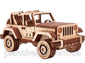 Дерев'яний 3D конструктор Сафарі джип 4х4, фото 2