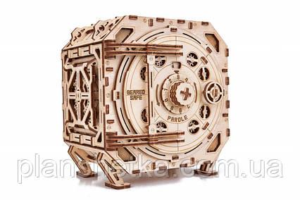 """Дерев'яний 3D конструктор """"Механічний Сейф"""", фото 2"""