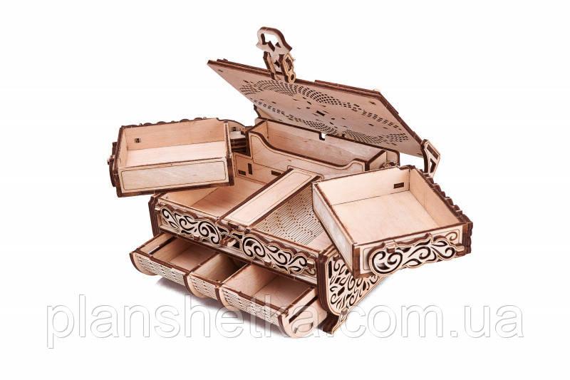 """Деревянный 3D конструктор """"Шкатулка, декорированная кристаллами Swarovski"""""""