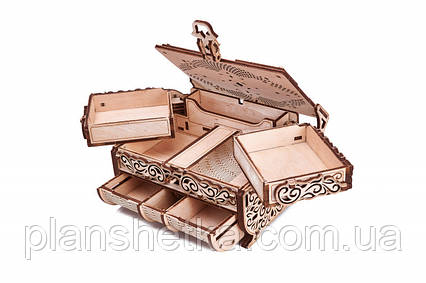 """Дерев'яний 3D конструктор """"Шкатулка, декоровані кристалами Swarovski"""", фото 2"""