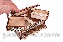 """Деревянный 3D конструктор """"Шкатулка, декорированная кристаллами Swarovski"""", фото 2"""