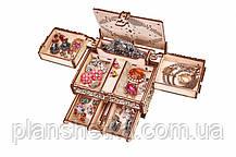 """Дерев'яний 3D конструктор """"Шкатулка, декоровані кристалами Swarovski"""", фото 3"""
