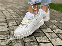 Кроссовки  белые низкие натуральная кожа Nike Air Force Найк Аир Форс (36,37,38,39,40,41), фото 2