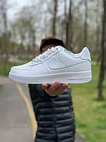 Кросівки білі низькі Nike Air Force Найк Аір Форс (43,44,45), фото 3