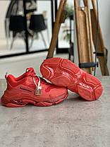 Кросівки Balenciaga Triple S BURGUNDY Баленсіага Тріпл З Бордові (36,37,38,39,40), фото 2