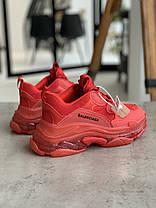 Кросівки Balenciaga Triple S BURGUNDY Баленсіага Тріпл З Бордові (36,37,38,39,40), фото 3