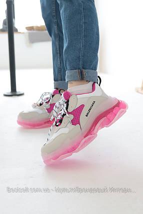 Кросівки Balenciaga Triple S White Pink Баленсіага Тріпл З Біло-Рожеві (37,38,39,40), фото 2