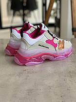 Кросівки Balenciaga Triple S White Pink Баленсіага Тріпл З Біло-Рожеві (37,38,39,40), фото 3