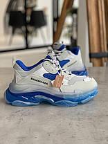 Кросівки Balenciaga Triple S White Blue Баленсіага Тріпл З Біло-Сині (37,38,40), фото 3