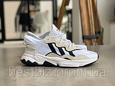 Кроссовки Adidas Ozweego White with black stripes Адидас Озвиго Белые с чёрными полосками (41,42,44,45), фото 2