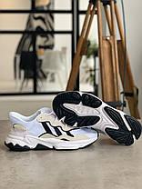 Кросівки Adidas Ozweego White with black stripes Адідас Озвиго Білі з чорними смужками, (41,42,43,44,45), фото 2