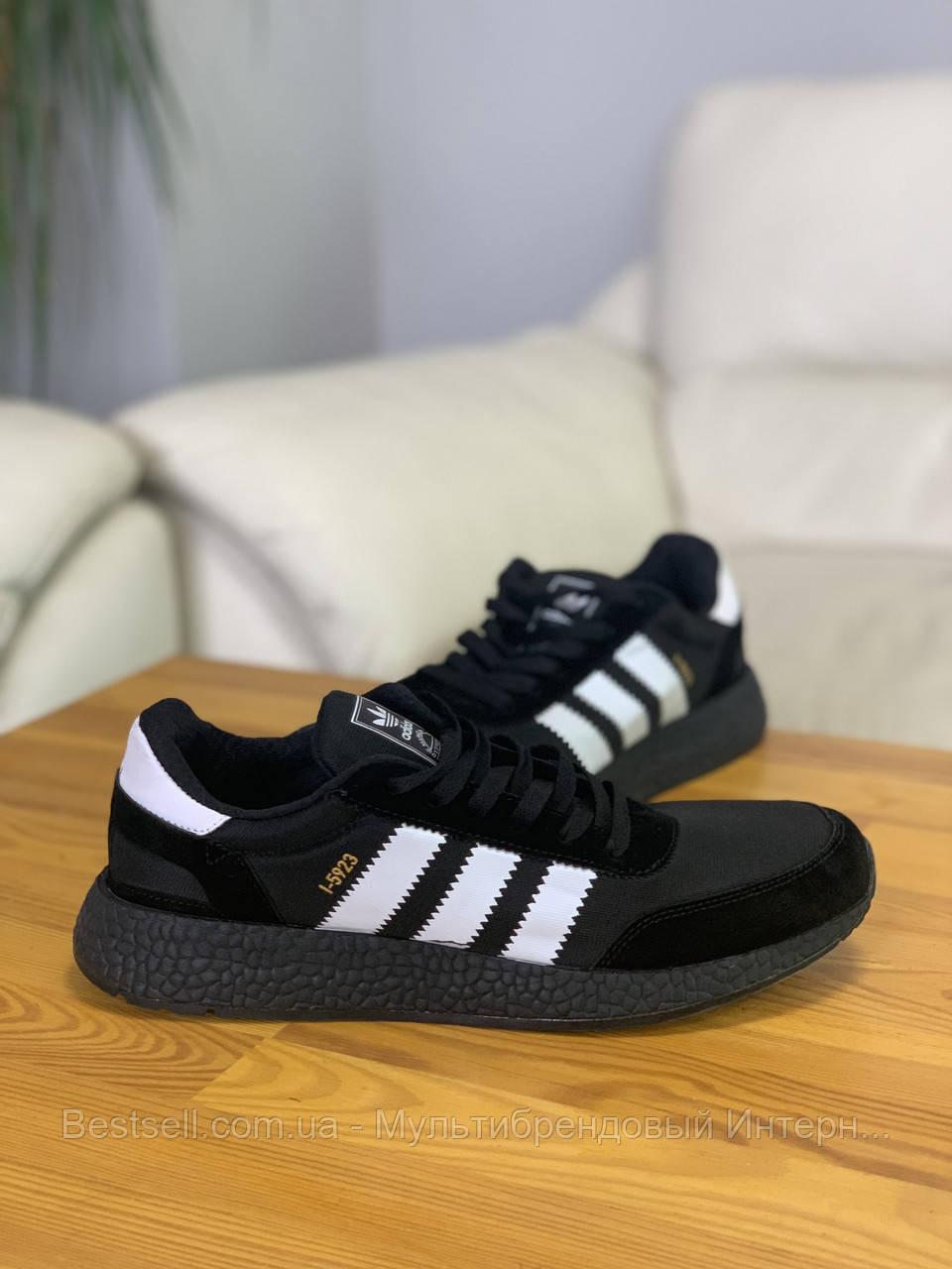 Кроссовки Adidas Iniki Black Адидас Иники Чёрные (41,42,43,44)