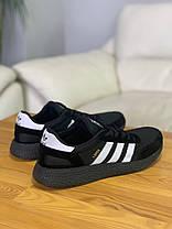 Кроссовки Adidas Iniki Black Адидас Иники Чёрные (41,42,43,44), фото 2