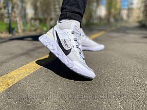 Кроссовки Nike REACT ELEMENT White logo Найк Реакт Элемент Черный логотип  (41,42,43,44,45)