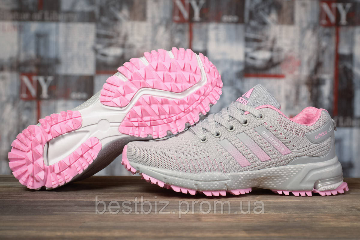 Кросівки жіночі 17004, Adidas Marathon Tn, сірі, [ 36 ] р. 36-22,5 див.