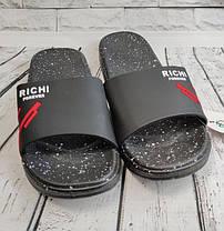 Мужские летние шлепки шлепанцы черные 43р 26.5см, фото 2