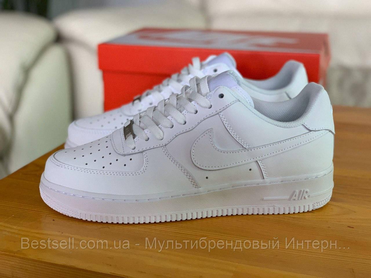 Кросівки білі низькі Nike Air Force Найк Аір Форс (36,37)