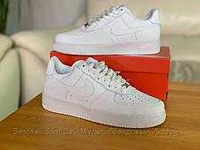 Кросівки білі низькі Nike Air Force Найк Аір Форс (36,37), фото 2
