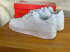 Кросівки білі низькі Nike Air Force Найк Аір Форс (36,37), фото 3