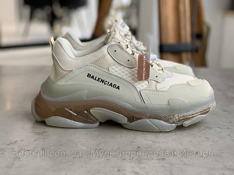Кроссовки Balenciaga Triple S Beige Баленсиага Трипл С Бежевые (36,37,38), фото 2