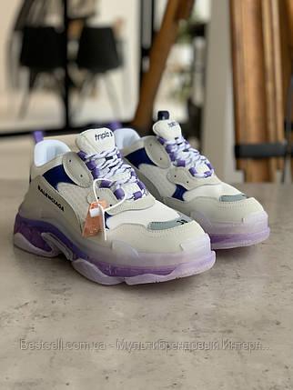 Кросівки Balenciaga Triple S VIOLET Баленсіага Тріпл З Фіолетові (37,40), фото 2