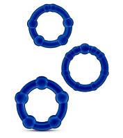 Ерекційні кільця STAY HARD BLUE, фото 1