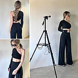 Костюм жіночий двійка річний штани і топ в рубчик, фото 4