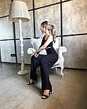 Костюм жіночий двійка річний штани і топ в рубчик, фото 6