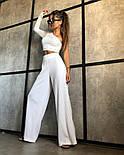 Костюм женский двойка летний брюки и топ в рубчик, фото 2