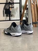 Кросівки Nike Air Jordan 4 Grey Найк Аїр Джордан 4 Сірі (42,44), фото 2