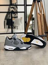 Кросівки Nike Air Jordan 4 Grey Найк Аїр Джордан 4 Сірі (42,44), фото 3
