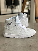 Кроссовки Nike Air Jordan 1 Retro White Найк Аир Джордан 1 Ретро Белые (41,43,44,45), фото 3