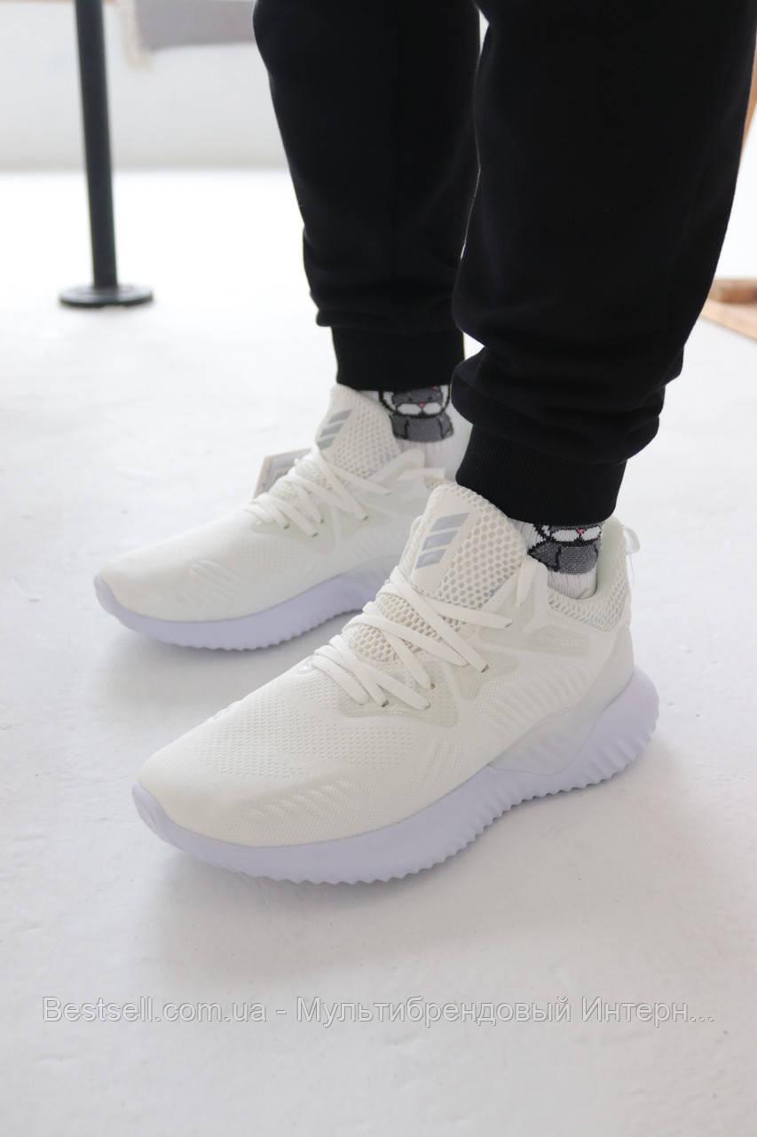 Кросівки Adidas Alphabounce Instinct White Адідас Альфабаунс Інстинкт Білі (41,42,43,44,45)