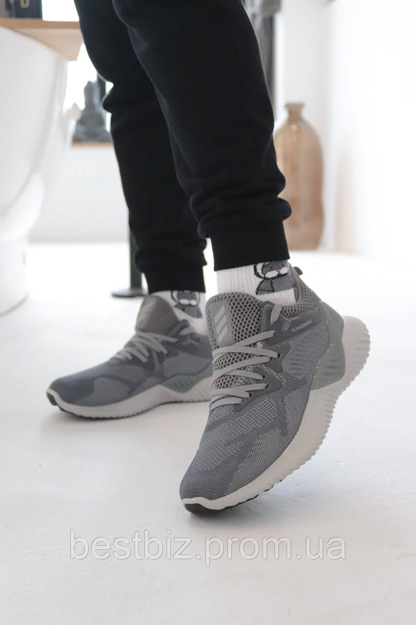 Кроссовки Adidas Alphabounce Instinct Grey Адидас Альфабаунс Инстинкт Серые (41,42,44,45)