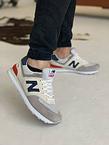 Кросівки New Balance 574 Tricolor Нью Беланс Триколірні (40,41,43,44), фото 3