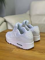 Кросівки NIKE AIR MAX 90 White Найк Аір Макс 90 Білі (41,42,43,44,45), фото 2