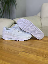 Кросівки NIKE AIR MAX 90 White Найк Аір Макс 90 Білі (41,42,43,44,45), фото 3