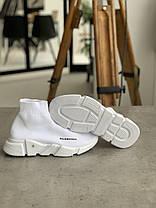 Кросівки Balenciaga Speed Trainer White Баленсіага Снід Трейнер Білі [ 36,37,38,39], фото 3