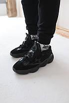 Кросівки Adidas Yeezy 500 Utility Black Адідас Ізі 500 Чорні [ 41,44,45] репліка, фото 2