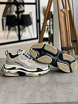 Кросівки Balenciaga Triple S Beige&Milk Баленсіага Тріпл З [41,42,45], фото 2