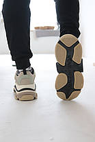 Кросівки Balenciaga Triple S Beige&Milk Баленсіага Тріпл З [41,42,45], фото 3